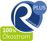Siegel Renewable Plus 100 Prozent Ökostrom
